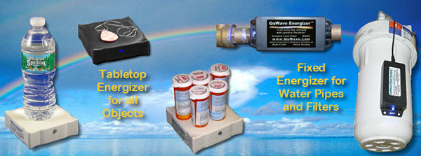 Energizer to infuse food water jewelry with scalar waves and orgone energy