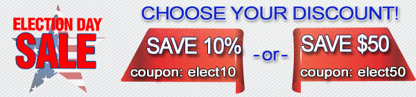 election day sale banner